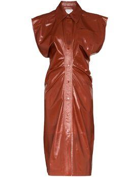 Bottega Veneta leather midi dress 618440VKLC0