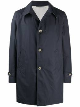 Canali single-breasted fitted coat DG01614010294C
