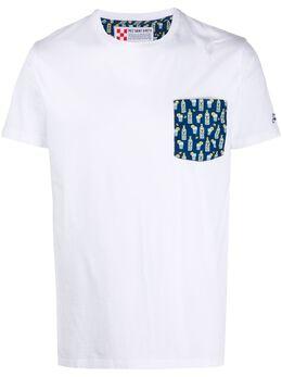 Mc2 Saint Barth contrast-pocket T-shirt BLANCHE