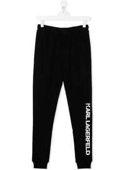 Karl Lagerfeld Kids спортивные брюки с логотипом Z24088T