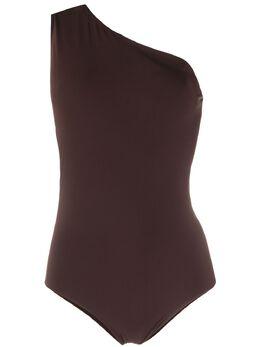 Bottega Veneta купальник на одно плечо с вырезом 6255173V944