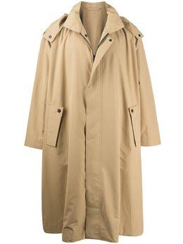 Homme Plisse Issey Miyake пальто свободного кроя с капюшоном HP06FA023