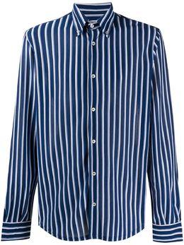 Fedeli полосатая рубашка на пуговицах 3UE00126