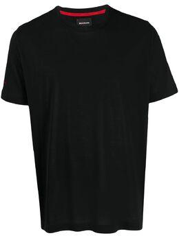 Kiton футболка с вышитым логотипом UK1165E20