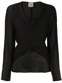 Alysi блузка с запахом и завязками сзади 100229P0006