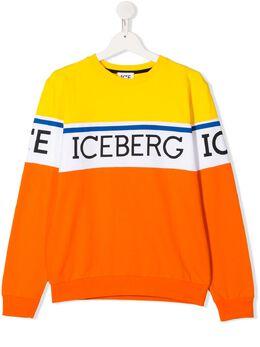 Iceberg Kids TEEN logo printed sweatshirt MFICE2107J