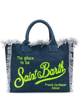 Mc2 Saint Barth пляжная сумка с логотипом и бахромой VANITY