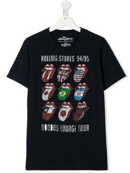 Mc2 Saint Barth Kids TEEN Rolling Stones flag print T-shirt TSHIRTBOY