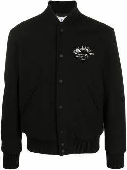 Off-White куртка-бомбер с логотипом OMEA224E20FAB0011001