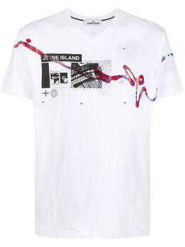 Stone Island футболка с принтом MO72152NS80