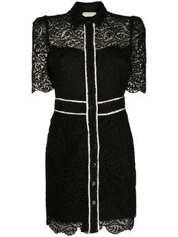 Sandro платье-рубашка с кружевными вставками SFPRO01204