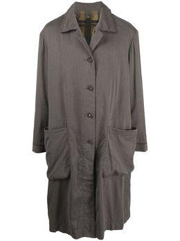 Ziggy Chen однобортное пальто оверсайз с карманами OM2011102