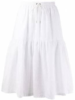 Markus Lupfer ярусная юбка с английской вышивкой SK468
