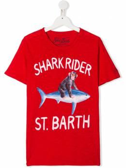 Mc2 Saint Barth Kids TEEN Shark Rider St Barth print T-shirt FLYNN