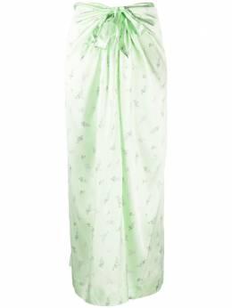 Ganni юбка с запахом F4657