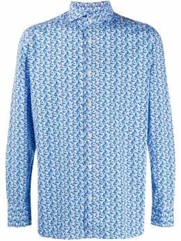 Luigi Borrelli рубашка с цветочным принтом EV189021