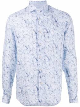 Corneliani рубашка с абстрактным принтом 85P1640111948