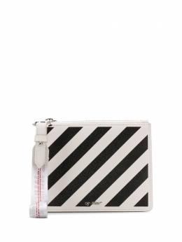 Off-White клатч с диагональными полосками OWNA048S20LEA001