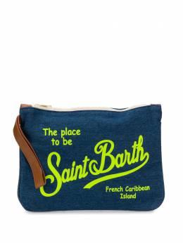 Mc2 Saint Barth джинсовый клатч с логотипом PARISIENNE