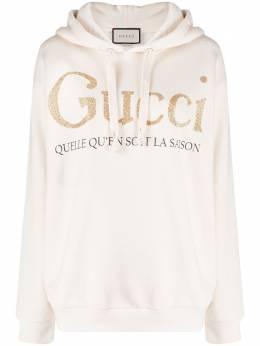Gucci худи с принтом и блестками 615061XJCK5