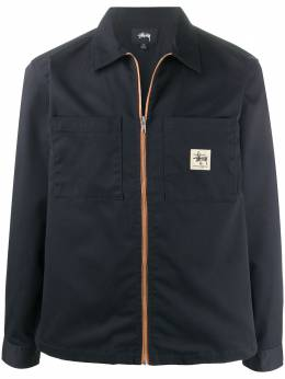 Stussy logo-patch zip-up jacket 1110092