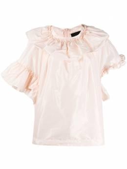 Simone Rocha блузка асимметричного кроя с оборками 35720313