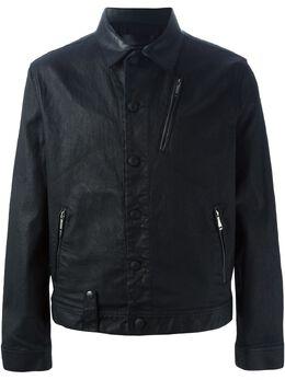 Alexander McQueen вощеная джинсовая куртка 387646QFY25