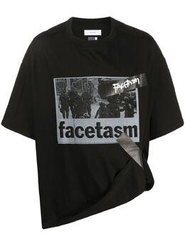 Facetasm футболка оверсайз с логотипом YATEEU14