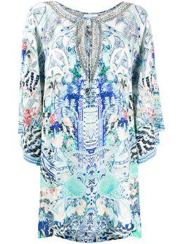 Camilla короткое платье-кафтан Wings of Luxor 00003804