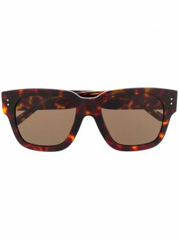 Linda Farrow солнцезащитные очки в квадратной оправе черепаховой расцветки LFL1050C2SUN