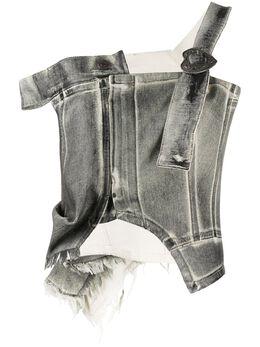 Ottolinger джинсовый топ асимметричного кроя TO02B