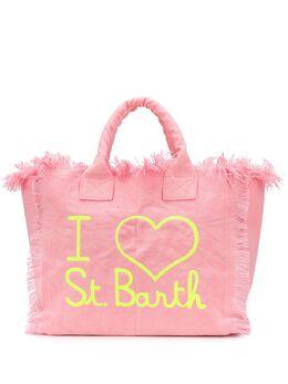 Mc2 Saint Barth embroidered-logo fringed tote bag VANITY