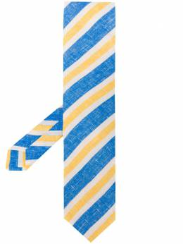 Kiton галстук Azul в полоску B1704A1