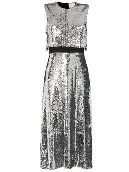 Stella McCartney двухслойное платье с пайетками 582255SNA29
