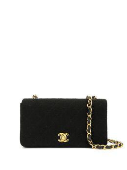 Chanel Pre-Owned стеганая сумка на плечо 1990-х годов 1372644