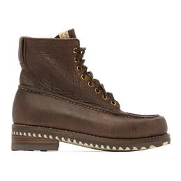 Visvim Brown Kainai Moc-Toe Folk Boots 0120102002008
