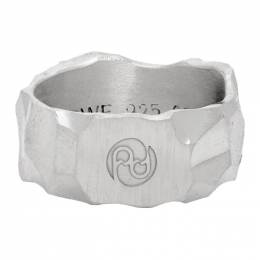 All Blues Silver Carved Rauk Narrow Ring 101483