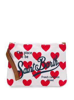 Mc2 Saint Barth клатч с узором и логотипом PARISIENNE