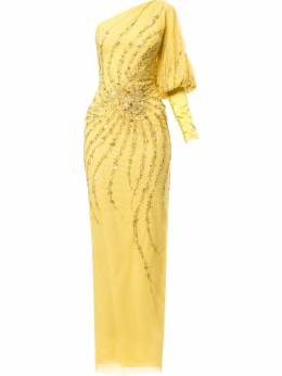 Saiid Kobeisy платье макси на одно плечо RTWSS2024