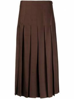 Agnona юбка миди со складками U4073G651OY