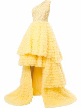 Saiid Kobeisy расклешенное платье асимметричного кроя RTWSS2021
