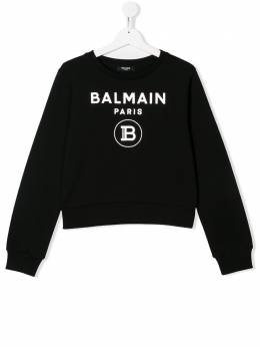 Balmain Kids толстовка с логотипом 6N4010NX280930