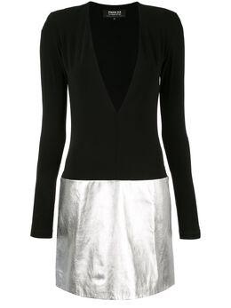 Paule Ka платье мини с глубоким V-образным вырезом 202R509C