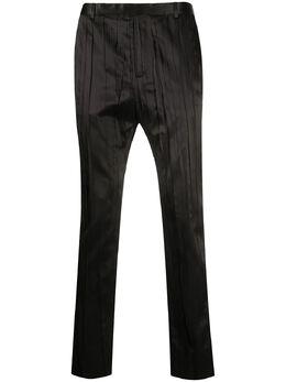 Saint Laurent брюки прямого кроя со складками 604957Y2A31