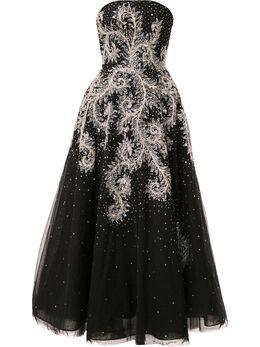 Saiid Kobeisy расклешенное платье миди без бретелей RTWSS2043