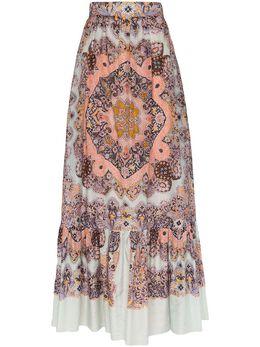 Etro юбка макси с принтом пейсли 133824411
