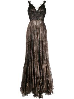 Maria Lucia Hohan длинное платье Kendi со складками KENDICARBON