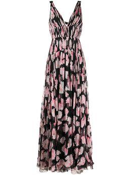 Maria Lucia Hohan платье макси Dottie с цветочным принтом DOTTIEPINKBLACK