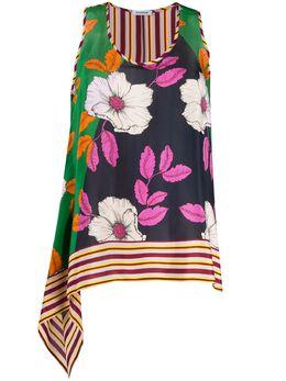 P.a.r.o.s.h. silk flower print vest top D311293SAFI