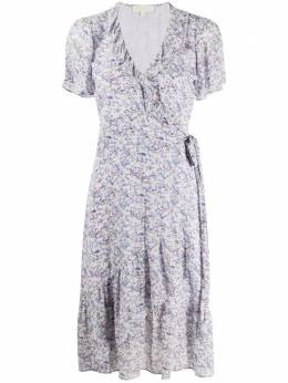 MICHAEL Michael Kors floral-print wrap dress MS08YFSEGG